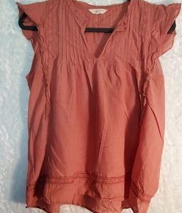 Lucky Brand Ruffle Sleeve Blouse Size M